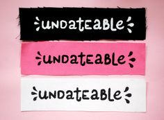 Undateable Patch Frances Ha sew on silkscreen by OveritStudio