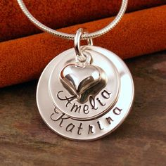 Hand Stamped Mommy Jewelry  Personalized by IntentionallyMe, $43.00