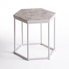 Topim Coffee Table/Pedestal Table with Ceramic Top La Redoute Interieurs Nesting Tables, Side Table, Table Tops, Furniture, Pedestal Table, Table, Tv Furniture, Coffee Table, Steel Furniture