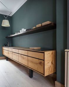 Like this rustic wood unit with drawers only for where our server is now