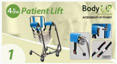 Body Up Evolution Safety Patient assist with lifting patients weighing up to 300 pounds. Easy to use, highly mobile and user friendly for both patient and medical staff. Mobiles, Handicap Equipment, Transport Wheelchair, Handicap Accessible Home, Helping The Elderly, Lifting Devices, Mobility Aids, Elderly Care, Assisted Living
