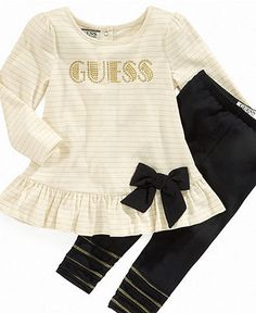 Guess Baby Set, Baby Girls Logo Tunic and Leggings - Kids Baby Girl (0-24 months) - Macy's