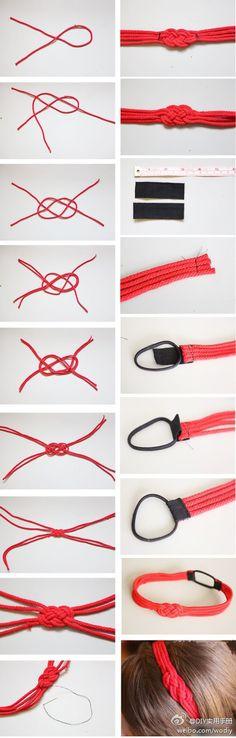Facile et joli! Avec des lacets ronds fins et cirés :)