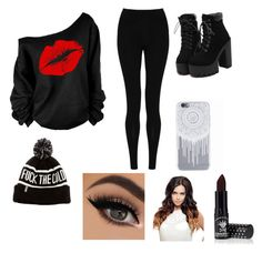 """""""Untitled #12"""" by madriz-soamdi on Polyvore featuring M&S Collection and Manic Panic"""