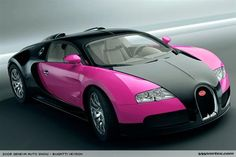 Bugatti Veyron. I can buy it when I'm a millionaire or a billionaire.I want a blue one,and a pink and black one.