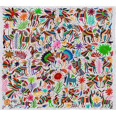 Bordados Otomi Tapestries - Flora & FaunaFino Quality Otomi Tapestry