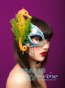 Seahorse Half Mask Fascinator