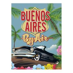 Buenos Aires, Argentina vacation poster Postcard