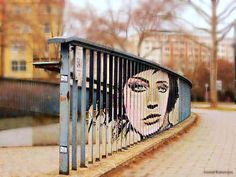 Street art in Mannheim, Germany - Wow that must have taken some time and hopefully cooperation from the city otherwise what a feat.