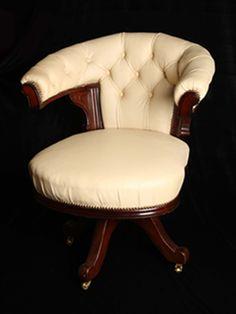Straight arm jacket wrap round stool chair