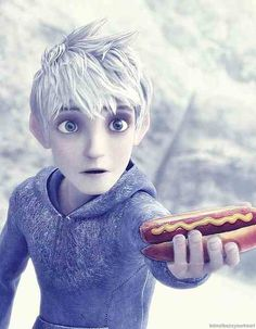 Bahahaha! I normally despise hot dogs, but, you know, if Jack Frost were to give me one...