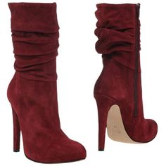 Jolie By Edward Spiers Ankle Boots (3,670 MXN) ❤ liked on Polyvore featuring shoes, boots, ankle booties, heels, maroon, zipper bootie, zip booties, maroon boots, ankle boots and bootie boots