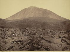 Lava Field and Mount Vesuvius  Collection: A. D. White Architectural Photographs, Cornell University Library  Accession Number: 15/5/3090.01474    Title: Lava Field and Mount Vesuvius    Photographer: Giorgio Sommer (Italian, born Germany, 1834-1914)