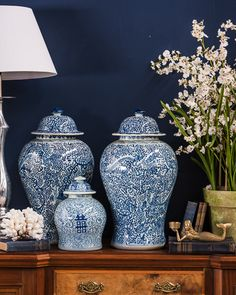 Blue and White at Botticelli House
