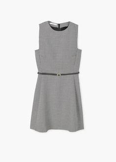 Vestito disegno pied-de-poule | MANGO