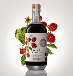 Tendencias packaging flores y frutas - Vodka Aromatizado Wild Roots, Sasquatch…