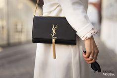 czarna torebka Yves Saint Laurent