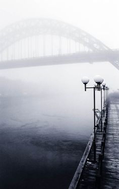 Black White - The Wearmouth bridge, Sunderland, England. Very cool picture! I love black and white photos. Art Photography, Travel Photography, Thing 1, Imagines, Shades Of Black, Black And White Photography, Mists, Beautiful Places, Beautiful Pictures