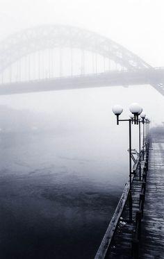 Black White - The Wearmouth bridge, Sunderland, England. I wandered on this bridge quite a bit :)