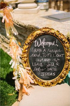 Elegant-Vintage-Backyard-Bridal-Shower-Welcome-Sign