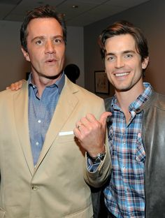 Best #bromance on television. Matt Bomer & Tim DeKay #WhiteCollar