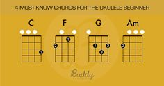 4 must know chords for the ukulele beginner