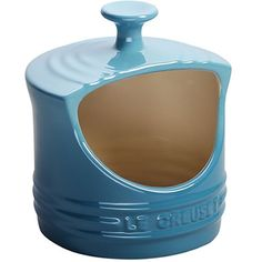 Love my turquoise Le Creuset Salt Pig