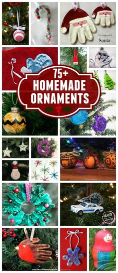 Christmas DIY: More than 75 DIY orn More than 75 DIY ornaments to put on your tree. There's nothing like making homemade ornaments together each year. Preschool Christmas, Christmas Crafts For Kids, Christmas Activities, Diy Christmas Ornaments, Homemade Christmas, Christmas Projects, Holiday Crafts, Christmas Holidays, Christmas Gifts