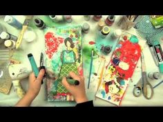 ▶ Christy Tomlinson Mixed Media Collage: She Art (tease to she art class) & Somerset Studios Project! - YouTube