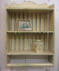 Shabby Chic Wall Shelf Primitive Prairie by rosesnmygarden on Etsy, $95.00