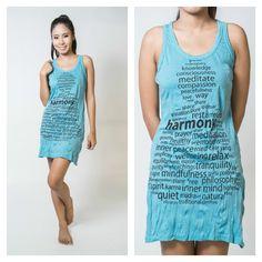 Sure Design Womens Harmony Tank Dress Turquoise