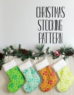Beautiful and Classic Christmas Stocking Pattern - Free! — SewCanShe | Free Sewing Patterns for Beginners