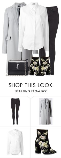 """""""Untitled #2917"""" by elenaday ❤ liked on Polyvore featuring Maison Scotch, Anthony Vaccarello, Miss Selfridge and Yves Saint Laurent"""