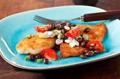 fish recipes-this one is totally awesome. i added avocado and cilantro, and extra lime to the salsa.