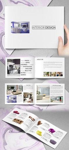 Simple Interior Catalog Brochure Template #brochuretemplate #catalogdesign #booklet #annualreport #printdesign #psdtemplate