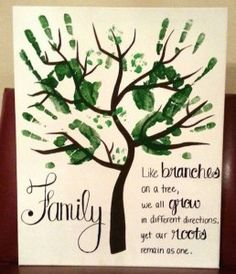 What a wonderful handprint gift idea for a parent. Maybe even Mother's Day or Father's Day!