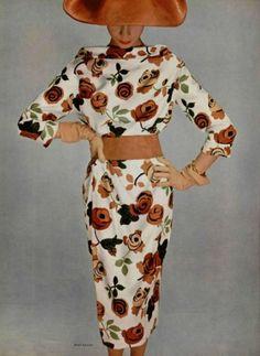 This vintage floral print is bonkers amazing | Jean Patou Design Spring 1958