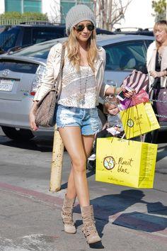 Ashley Tisdale wearing Free People.