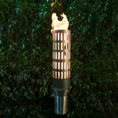 The stainless steel Tribal Tiki Torch will be the piece that catches everyone's eyes at your next gathering! This hand-crafted tiki torch offers a primitive design that will compliment any outdoor decor. Propane Tank Cover, Tiki Torches, Outdoor Torches, Deck Posts, Stainless Steel Pans, Gas Pipe, Corten Steel, Outdoor Fire, Outdoor Decor
