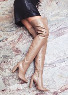 Who Is Gianvito Rossi? Where to Buy Boots, Pumps, and Sandals Knee High Heels, Thigh High Boots, High Heel Boots, Over The Knee Boots, Shoe Boots, Buy Boots, High Leather Boots, Brown Leather, Rossi Shoes