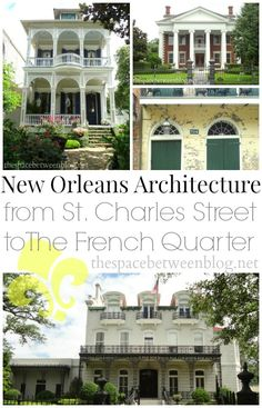 from chippy French Quarter homes to the massive mansions of St. Charles Street, see some of New Orleans beautiful and eclectic architecture