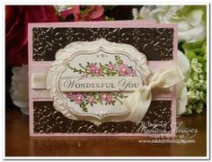 Loving Thoughts Apothecary Art Metal Embossed Card