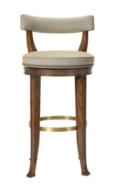 Newbury Swivel Curved Back Bar Stool from the 1911 Collection collection by Hickory Chair Furniture Co.