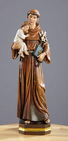 83c892ccb46 St Anthony Statue Child Jesus Valgardena Collection Patron Saint Lost Items  12