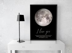 I love you moon map print, Moon phases print Couples gift,One year Anniversary Gift for Boyfriend,2 year Anniversary gifts for Him printable 2 Year Anniversary Gifts For Him, Boyfriend Anniversary Gifts, Boyfriend Gifts, Moon Map, Custom Map, Moon Phases, Couple Gifts, Love You, Printable