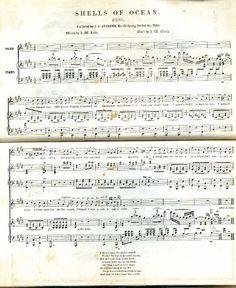 Civil War Period Sheet Music:  Shells of Ocean (1855)