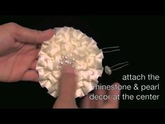 {LANA} Flowers Part 2of2 of the {LANA} Clutch: How to make Flowers from Ruffle Trims