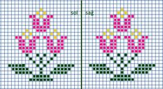 This Pin was discovered by luz Cross Stitch Patterns Free Easy, Cross Stitch Borders, Cross Stitch Designs, Cross Stitching, Cross Stitch Tree, Cross Stitch Flowers, Bordado Tipo Chicken Scratch, Knitted Mittens Pattern, Bead Loom Patterns