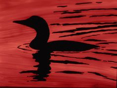 Loon Silhouette Reverse Painting by ALRF, via Flickr