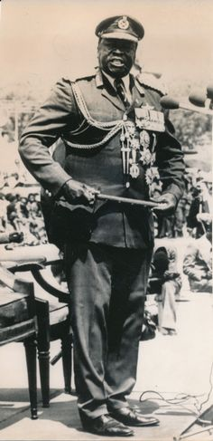 Idi Amin of Uganda Political Beliefs, Politics, African Dictators, Idi Amin, All About Africa, Tribal Warrior, Warrior King, All Black Everything, Crazy People